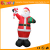Christmas Animated Inflatable Santa with a stick and gift in his hand