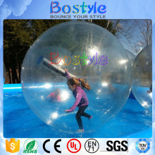 2017 inflatable colorful roller ball transparent handle water ball