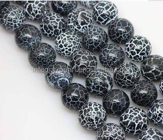 8mm natural black agate loose beads round gemstones for jewelry making