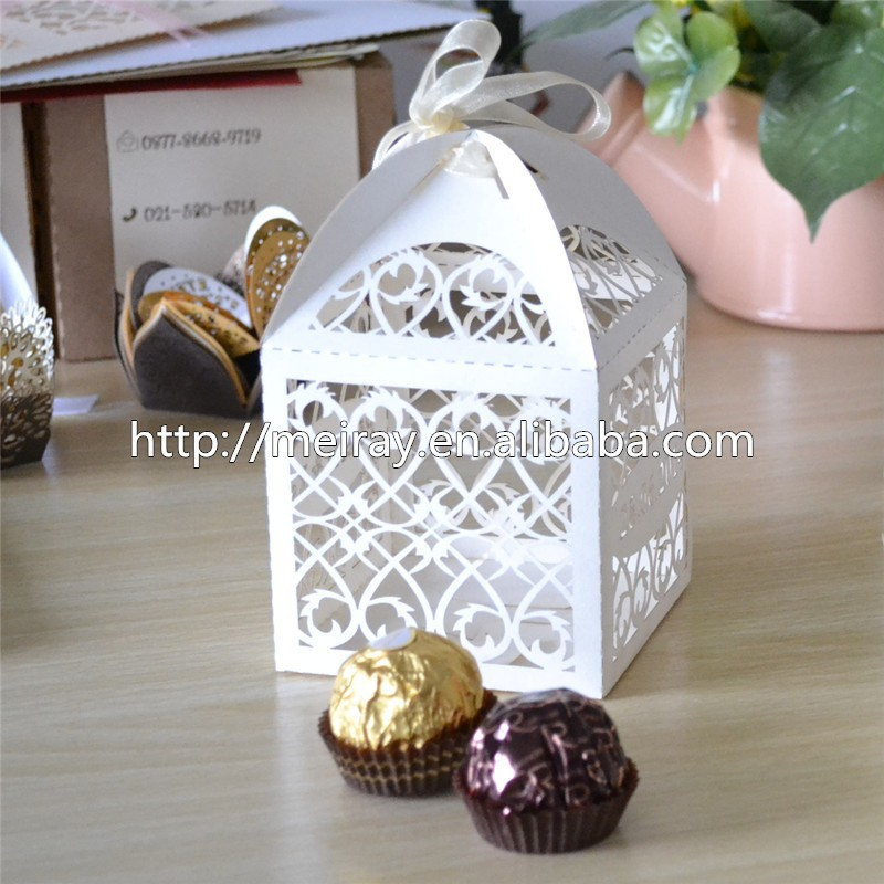 Wholesale Custom Filigree Wedding Gift Favor Box Indian Wedding Favors