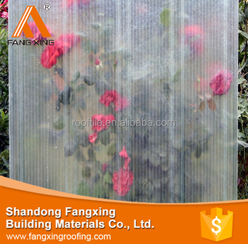 greenhouse roof synthetic resin transparent panels