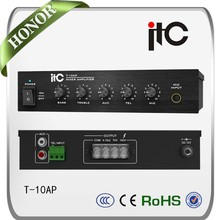 ITC tabletop audio amplifier 12v dc,wall mounted amplifier,mini power mixer amplifier price