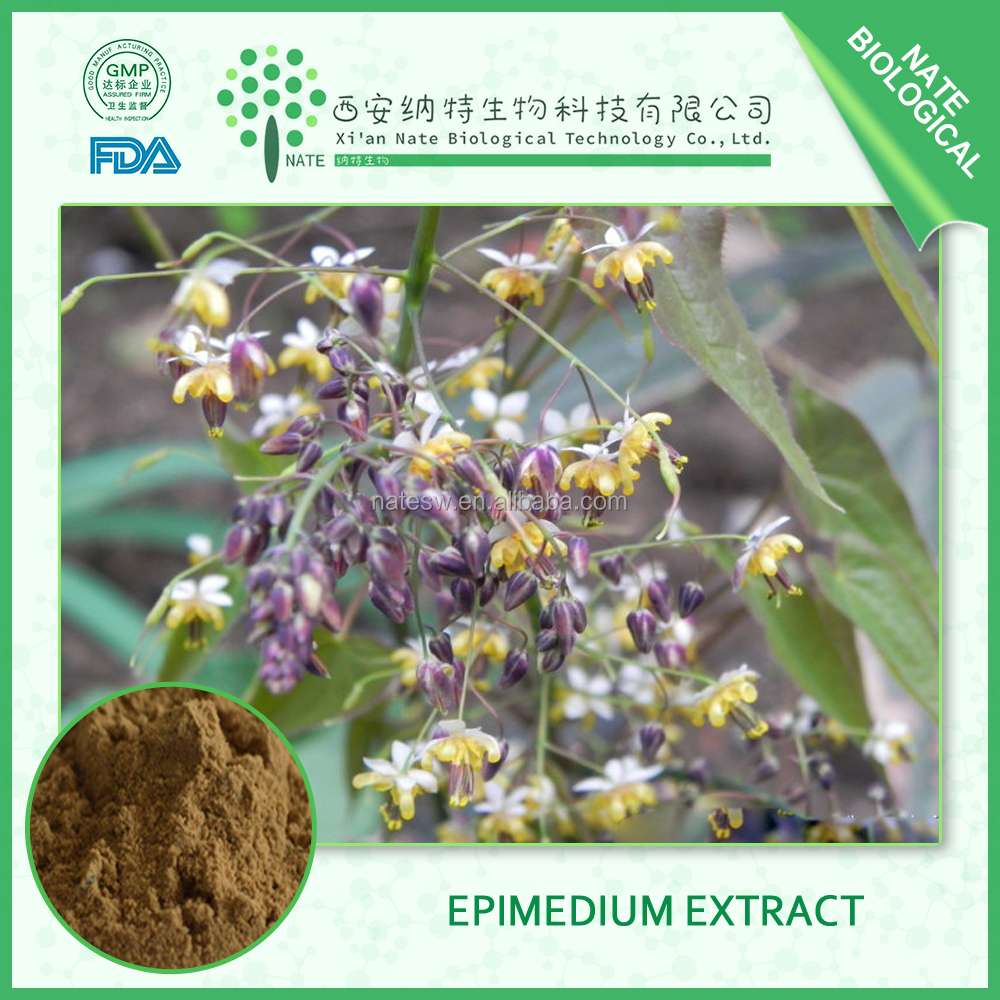 pure natural Epimedium herb extract 20% icariin powder epimedium leafextract for sex-health product