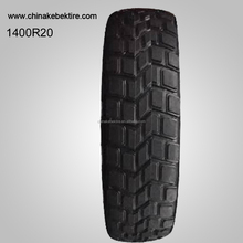 Wholesale high quality military use 1400R20 truck tires with deep patterns