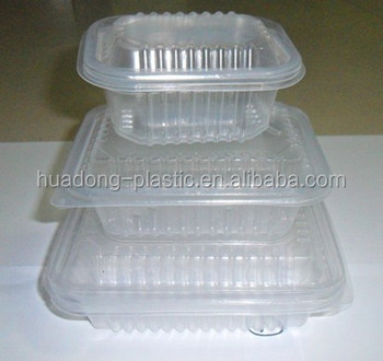 Disposable plastic food box container at low price