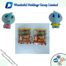 Buddy Nuts food Packaging Bag / back seal buddy nuts food bags / foil inside white plastic bags