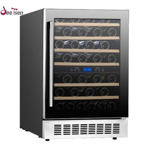 Home And Commercial Electric Appliance Built In Dual Zone Compressor Humidity Control Red Wine Refrigerator And Cooler