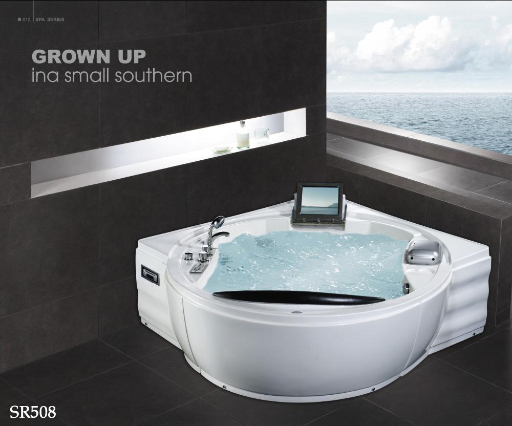 hei er verkauf indoor dreieck whirlpool mit tv dvd und k hlbox spafa produkt id 790971042. Black Bedroom Furniture Sets. Home Design Ideas