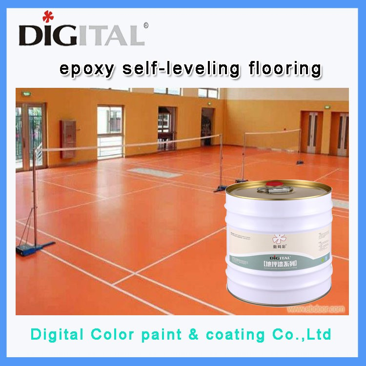 Digital Color primer paint for self-leveling epoxy floor coating