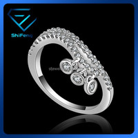 2015 Trendy Design Mirco Stones Pave Ring With Pendant