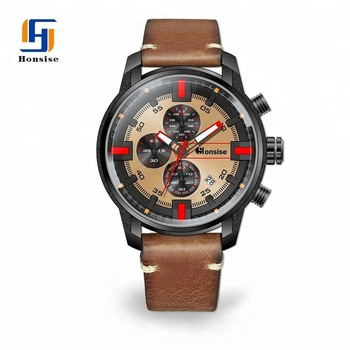2018 High Quality Brand Your Own Multifunction Vogue Luxury Customized Logo Chronograph Watch For Men