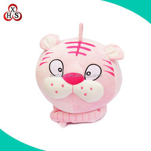 2016 New products round shaped big head tiger toys /cute plush tiger