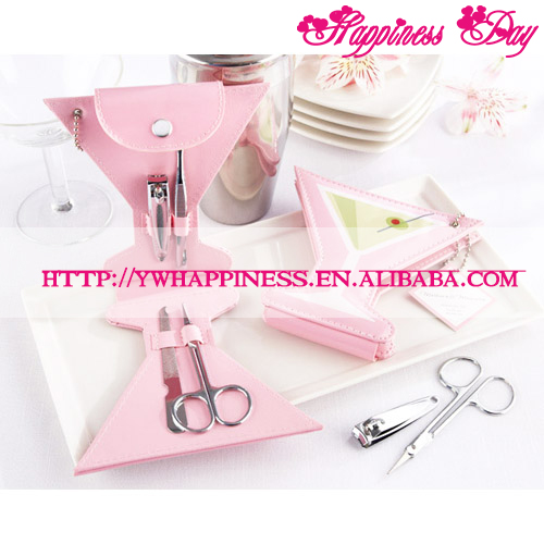 Champagne Glass Manicure Set (4pcs/set) Wedding Bomboniere & Favours