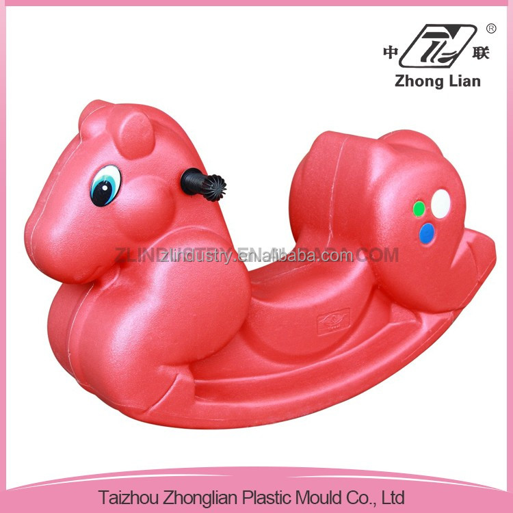 High quality different color plastic animal rocker toy