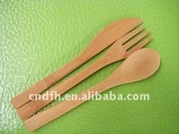 Bamboo knife fork and spoon
