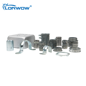 Galvanized steel straight conduit connector coupling for EMT conduit