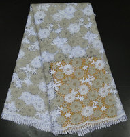White cord lace fabric chemical lace fabric in rolls