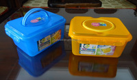 Super lock plastic storage box, storage container, storage bin with handles