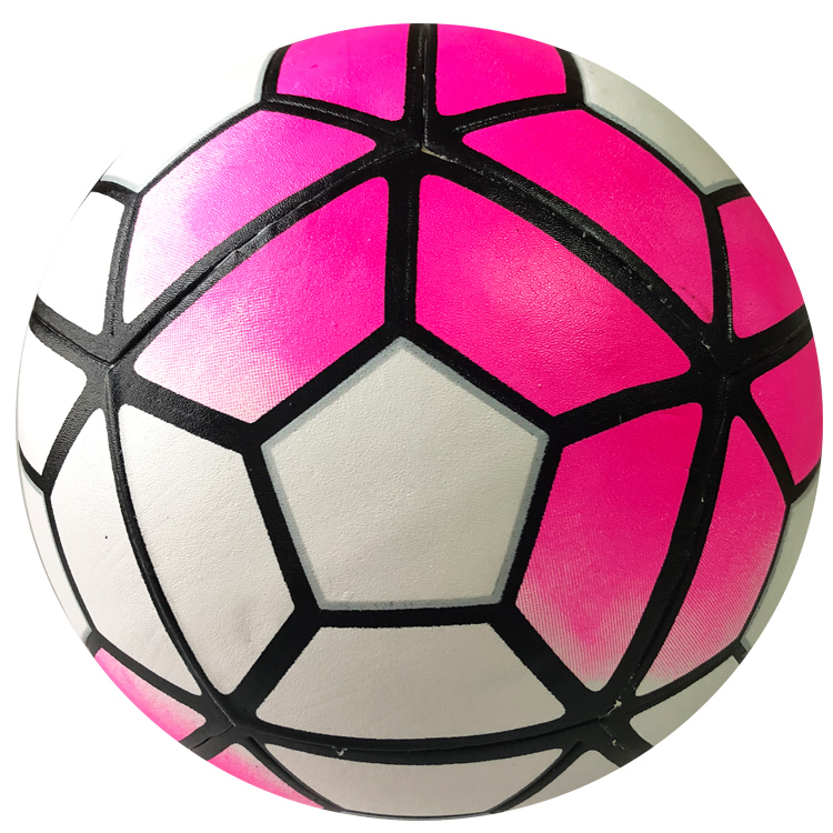 Custom Soccer Ball Logo Laminated pvc sky blue pink soccer ball