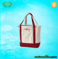new design wholesale cotton canvas shopping tote bag