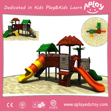 Popular big children castle play sliding structure kindergarten outdoorkids playground plans
