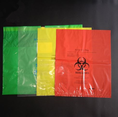 Red HDPE LDPE Biohazard Disposable Waste Bag for Medical