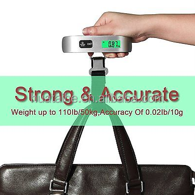 LCD Household Electronic Platform Scale Digital Luggage Weighing Scale Weight Balance Temperature Sensor Luggage Scale