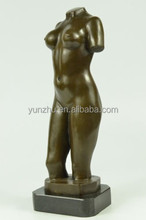 Bronze naked female trunk sculpture