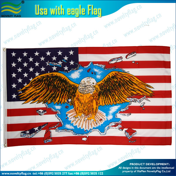 American Flag with Eagle design