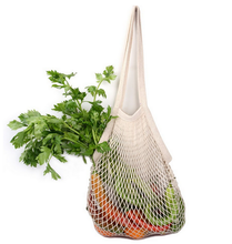 Popular reusable organic cotton mesh produce shopping grocy bags