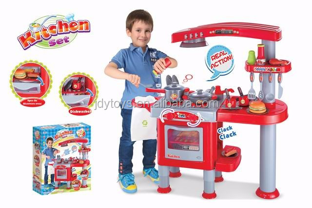 New style remote control Toys kitchen play set fast food shop toys for kids /electric kitchen play set toy with light and music