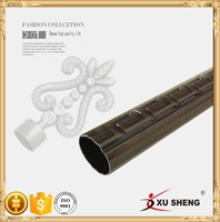 Hot sales in the Middle East classic pattern metal curtain rods, curtain iron pipe 28mm