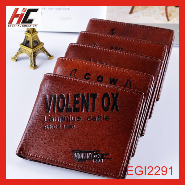 2015 new model cow leather wallet for teens wholesale