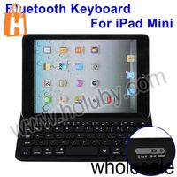 Frosted PC+Metal Back Cover Wireless Bluetooth Keyboard for iPad Mini with 160mAh Lithium Battery