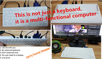 2016 the latest mini computer mainframe, built-in wireless wifi, bluetooth, multi-function keyboard host