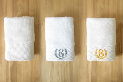 Five-star hotel cotton towel increase thickening 40 * 80 cm200 grams of embroidery logo hotel name