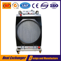 industrial transmission excavator hydraulic fan oil cooler