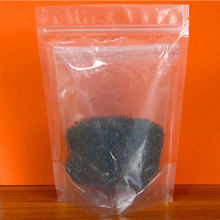 Stand up plastic ziplock food packaging bag for chips/snack with OPP stand up tea bag