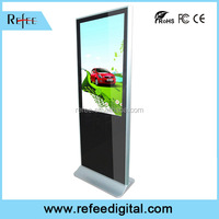 Indoor advertising media, LCD floor stand touch kiosk, digital signage