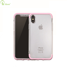 Cell Phone Hard PC Frame Hybrid Ctystal Clear TPU Bumper Back Cover Case For iPhone X