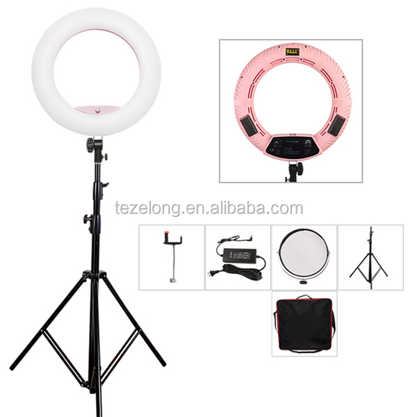 "Easy to carry FE/FD/FS 480pcs led ring light 18"" Stepless Adjustable Camera Photo/Video Portrait photography 96w LED video light"