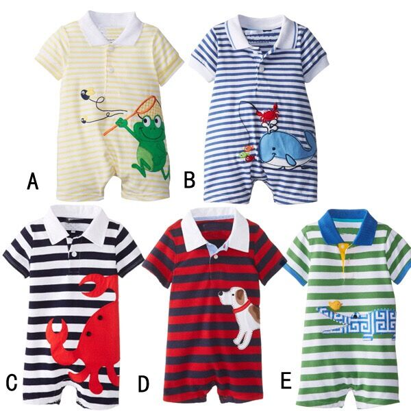 Hot sale baby organic cotton jumpsuit baby soft romper clothes