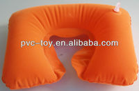 2013 promotional inflatable flocked neck support pillow