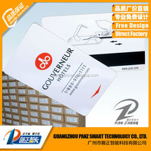 Pvc Hotel key card Magnetic and M1 IC Smart card wich chip