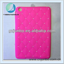 hot selling bling crystal diamond soft gel silicone cover case for ipad mini