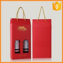 Factory price custom printing logo fancy gift wine bag paper sack for Wine