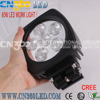 60W LED work light, high power 60W LED utility light lamp 10-30V/DC 60W 6,000lm