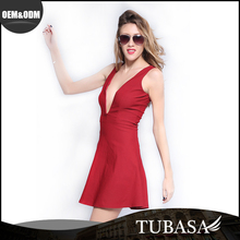 Factory Direct Price European Style Red Sex Party Dress