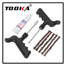 5 Strip Car Motorcycle Bike Auto Tubeless Tire Tyre Puncture Plug Repair Kit Tool Set NEW