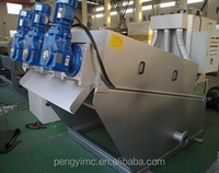 Sludge dewatering screw press for palm oil industry wastewater